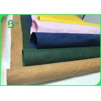 0.3mm 0.55mm 0.8mm Durable Colorful Washable Paper Fabric For Storage Bags Manufactures