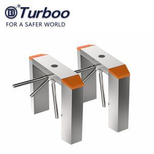 RFID Recognition Tripod Turnstile Gate , 100-240V Tripod Barrier Gate 304 SUS , Barrier Gate for Office Building Manufactures