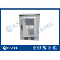 Cheap Small Size Outdoor Telecom Cabinet / Customized Sheet Metal Box With Heat Exchanger for sale
