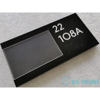 "Slider ADA Room Signage 1/4"" Square Corner Insert Window For Chanageable Information Manufactures"