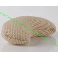 Comfort Japanese Spa Bath Pillow , 3D Mesh Cloth Pe Pipe Travel Neck Pillow Manufactures
