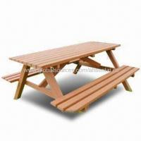 WPC Outdoor Picnic Table, Eco-friendly, Available in Various Colors Manufactures