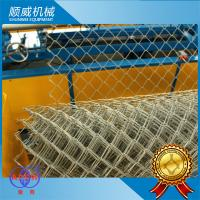 5.5kw Power Chain Link Fence Making Machine 3m Width Knuckle Edge Manufactures