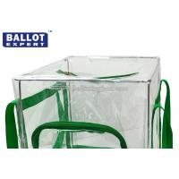 Cheap 60L Foldable Transparent PVC Collapsible Ballot Box Organizer for Election for sale
