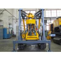 Yellow Spindle Crawler Core Drilling Rig , Drilling Diameter 75 - 800mm Manufactures