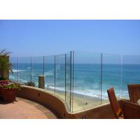Seaside Outdoor Glass Panel Railings , Toughened Glass Deck Railing 12mm Manufactures