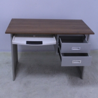 MDF Grey 750mm Wooden Computer Desk With Keyboard Tray Manufactures