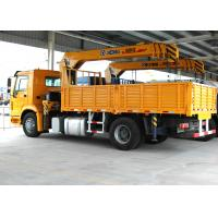 Durable 8 Ton Transportation Telescopic Boom Truck Mounted Crane, Wire Rope Manufactures