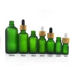 Green Color Essential Oil Glass Bottles , 1 oz 2 oz 4 oz Boston Round Glass Bottles Manufactures