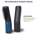 USB Rechargeable Tourmaline Ceramic Coating Wireless Travel Mini Hair Brush Straightener Manufactures