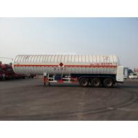Double Layered 56000L 3x13T FUWA alxe Cryogenic LNG Tank Semi - trailer