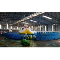 Giant Inflatable Water park Suit with White Shark Water Slide and float toys Manufactures