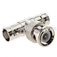 """BNC-TC59 BNC Splitter One Male to Two Female """"T"""" Connector for CCTV Coaxial Cable Manufactures"""