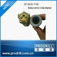 7 degree 34mm(Q7-34-22 11-50) buttons Tapered Drill Bit for Chile Market Manufactures