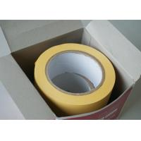Yellow Electrical Adhesive Insulation Tape Stabilized Plasticized PVC Matte Film