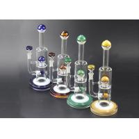 Poke Mon Ball Style Glass Water Bongs Double Recycler 11.8 Inches 5 Mm Thickness