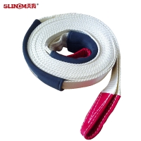 MBS 11000 KG 75mm Heavy Duty Recovery Straps , Lightweight Trailer Tow Straps Manufactures