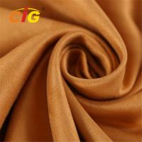Abrasion Upholstery 100% Polyester Microfiber  Faux Suede Fabric 80-200GSM Manufactures