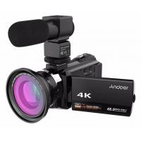 China wholesale Andoer 4K 1080P 48MP WiFi Digital Video Camera Camcorder Wide Angle Macro Lens Microphone Novatek 96660 on sale