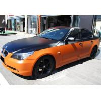 Buy cheap Environmentally Chrome Orange / white Car Wrap Vinyl Film Air Bubble Free from wholesalers