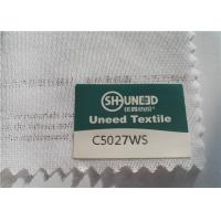 Circular Knit Stretch Interlining Material C5027WS With Double Dot PES Coating Manufactures