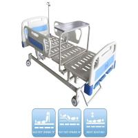 Three Functions Manual Hospital Bed With Dinning Panel 3 Kinds Of Optional Parts Medical Bed Manufactures