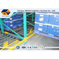 Perishable Goods Gravity Feed Pallet Racking , Double - Deep Gravity Flow Shelving Systems