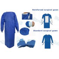 China SMS Disposable Surgical Gown With Knitted Cuff Environmentally Friendly on sale