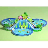 Funny Large Inflatable Water Parks , Children Floating Playgrounds EN71-2-3 Certificate Manufactures