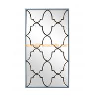 Direct Factory Price Nice Design Rectangle Wall Mirror With Metal Decorative Antique Gold Wall Mirror Manufactures