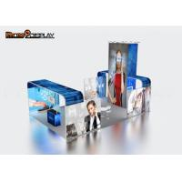 Backlit Fabric 10x10 Trade Show Booth Design For Outdoor Advertising Manufactures