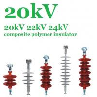Flexible Silicone Composite Polymer Insulator 20 KV For EHV Transmission Lines