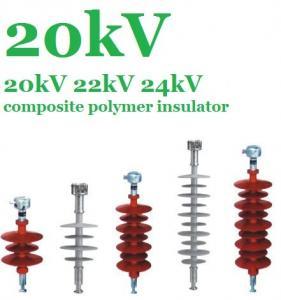 Flexible Silicone Composite Polymer Insulator 20 KV For EHV Transmission Lines