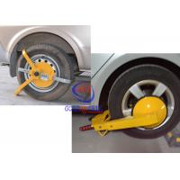 Manual Car Wheel Clamp , yellow Anti - theft parking wheel lock With 2 Keys Manufactures
