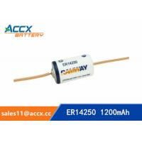 China ER14250 with tabs, axis, 3.6V 1200mAh lithium thionyl chloride battery on sale