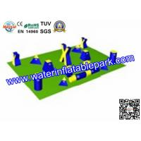 0.9 mm PVC Tarpaulin Inflatable Bunkers For Paintball Games Manufactures