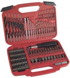 117pcs Combination Screwdriver Bit Set with HSS Twist Drills / Mansary Drills / Wood Drills Manufactures