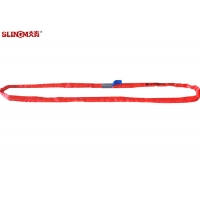 Red 5T Polyester Endless Round Sling EN1492-2 Heavy Duty Recovery Straps With Logo Printed Manufactures