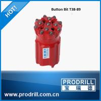 Drilling rock tools T38 89mm rocket drill threaded button bit Manufactures