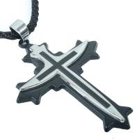 Titanium necklace steel sword cross pendant wholesale fashion men pendant QNN4015 Manufactures