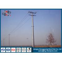 69KV Hot Dip Galvanized Electric Steel Tubular Pole for Electrical Line Manufactures
