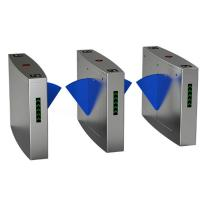 China Full Automatic Electronic Turnstile Gates Door Bidirectional Security Flap Barrier With RFID Interface on sale