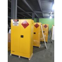 Lockable Chemical Storage Cabinets , Flammable Liquid Containers Double Vents Manufactures