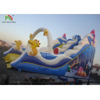 Quality PVC Tarpaulin Blue Inflatable Bouncers Toddler Slide Playground Theme Park for sale