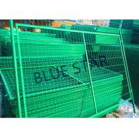 Highways Green Metal Fencing , High Strength Welded Galvanised Mesh Fencing Manufactures
