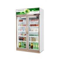 1000L capacity with 2 glass doors upright fridge outdoor shop with milk/bottle drink chiller Manufactures