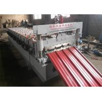 PLC Control IBR Sheet Metal Roll Forming Machines 13 Rows with 0.3-0.7mm Thickness Manufactures