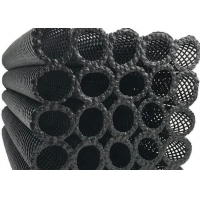 Bio Block Hdpe Plastic Piping Media For Water Treatment Black Color Hot For Aquaculture Manufactures