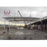 China Eco - Material Pagoda Shade Shelter Canopy , Gas Station Canopy With PVDF Membrane Sail on sale