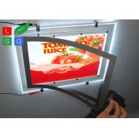 Ultra Thin Super Bright LED Crystal Lightbox Magnetic With Single Cable Hanging System for Shops Advertising Manufactures